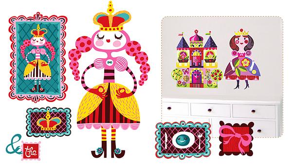 Princess Fabric Wall Stickers by Chocovenyl