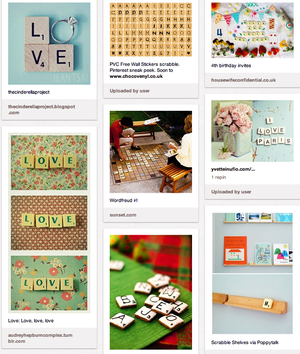 Scrabble Inspiration Pinterest