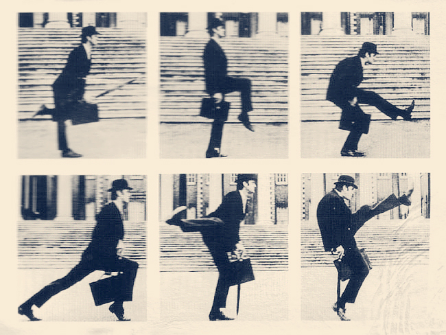 Yes the iconic image of john cleese doing his silly walk